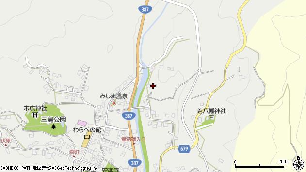 大分県玖珠郡玖珠町森2282周辺の地図