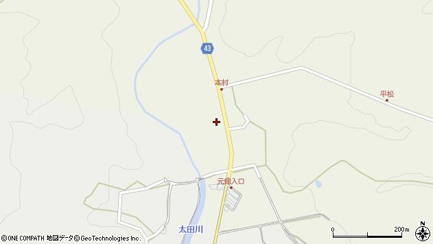 大分県玖珠郡玖珠町太田249周辺の地図