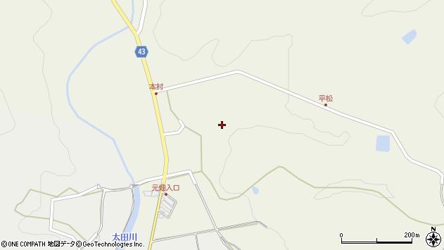 大分県玖珠郡玖珠町太田本村周辺の地図