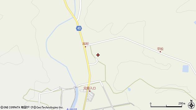 大分県玖珠郡玖珠町太田647周辺の地図