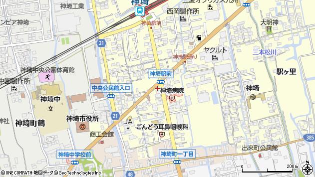 佐賀県神埼市神埼町田道ヶ里周辺の地図