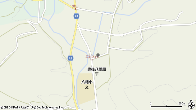 大分県玖珠郡玖珠町太田2274周辺の地図
