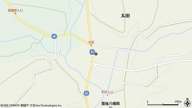 大分県玖珠郡玖珠町太田1488周辺の地図