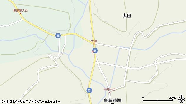 大分県玖珠郡玖珠町太田1491周辺の地図