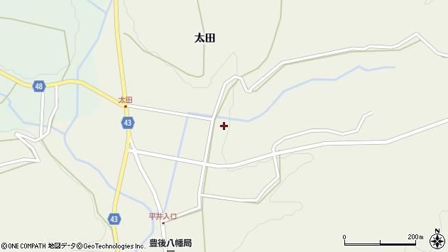 大分県玖珠郡玖珠町太田平井周辺の地図