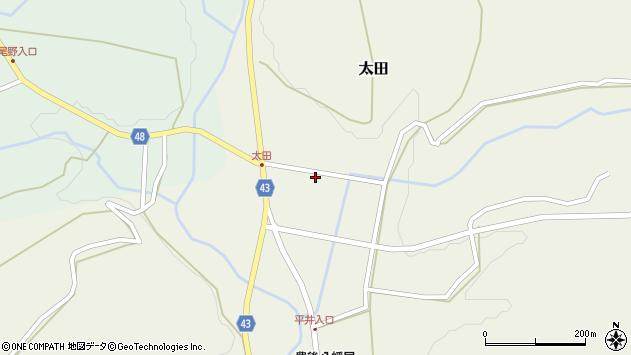 大分県玖珠郡玖珠町太田錨田周辺の地図