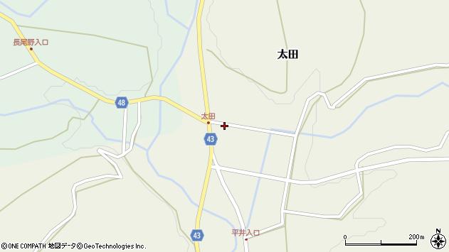 大分県玖珠郡玖珠町太田1489周辺の地図