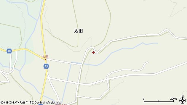 大分県玖珠郡玖珠町太田1824周辺の地図