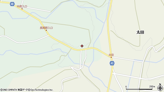 大分県玖珠郡玖珠町山下23周辺の地図