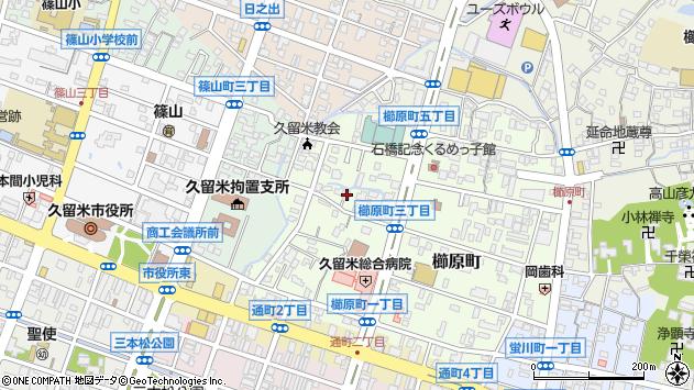 福岡県久留米市櫛原町周辺の地図
