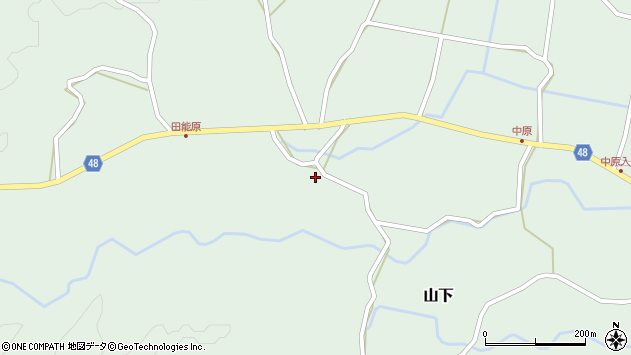 大分県玖珠郡玖珠町山下1488周辺の地図