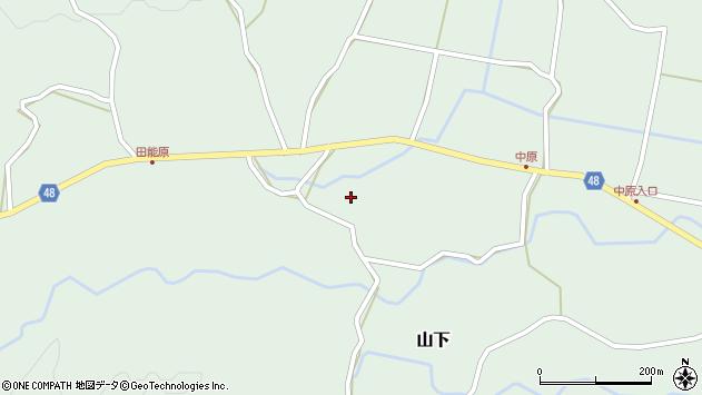 大分県玖珠郡玖珠町山下1522周辺の地図