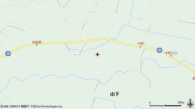 大分県玖珠郡玖珠町山下1526周辺の地図