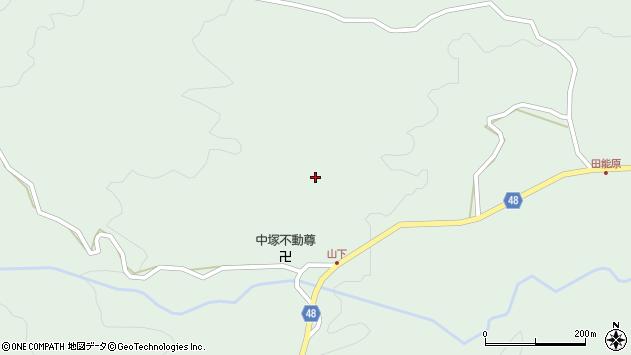 大分県玖珠郡玖珠町山下中塚周辺の地図