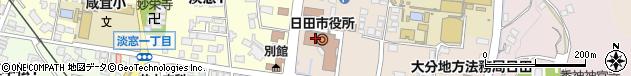 大分県日田市周辺の地図