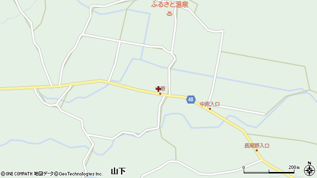 大分県玖珠郡玖珠町山下1992周辺の地図