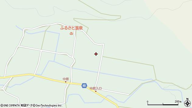 大分県玖珠郡玖珠町山下中ノ原周辺の地図