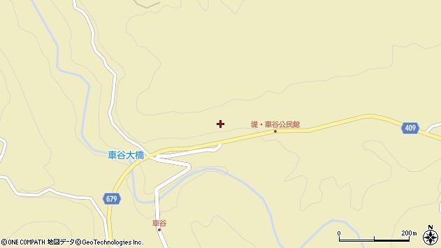大分県玖珠郡玖珠町日出生車谷周辺の地図