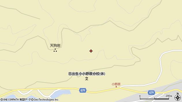 大分県玖珠郡玖珠町日出生小野原周辺の地図