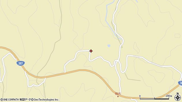 大分県玖珠郡玖珠町日出生柿木周辺の地図