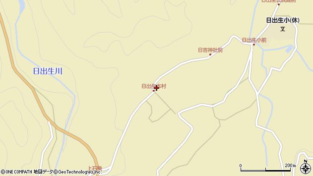 大分県玖珠郡玖珠町日出生2422周辺の地図