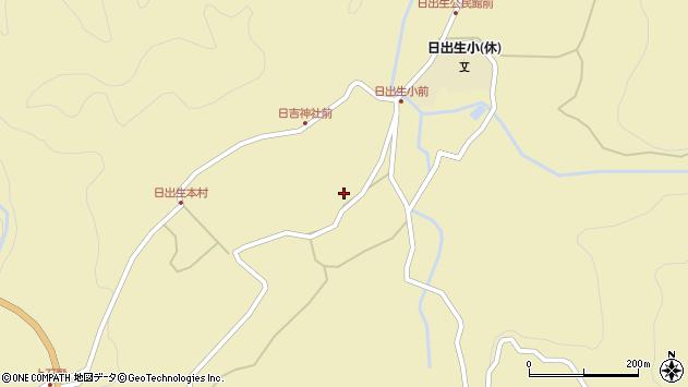 大分県玖珠郡玖珠町日出生2216周辺の地図