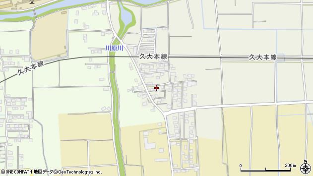 福岡県久留米市田主丸町殖木周辺の地図