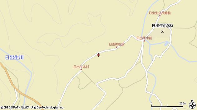 大分県玖珠郡玖珠町日出生2445周辺の地図