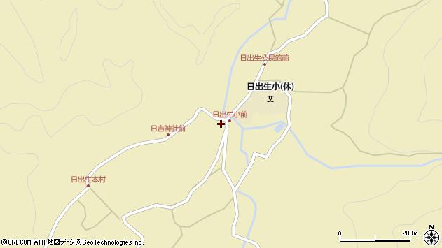 大分県玖珠郡玖珠町日出生2785周辺の地図