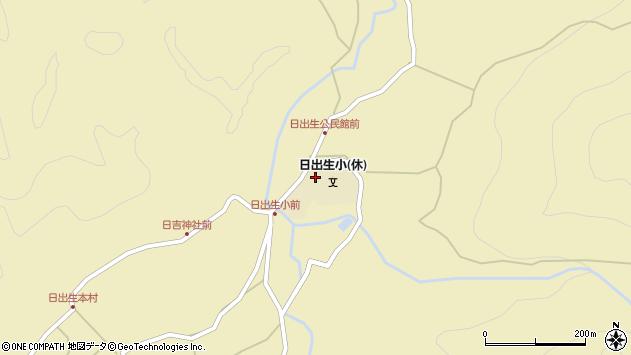 大分県玖珠郡玖珠町日出生周辺の地図
