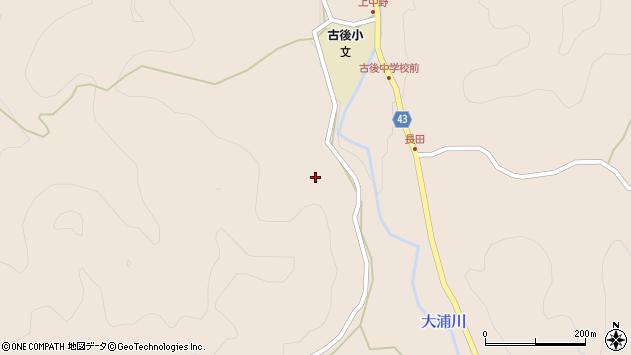 大分県玖珠郡玖珠町古後長田周辺の地図