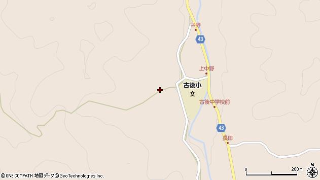 大分県玖珠郡玖珠町古後1632周辺の地図