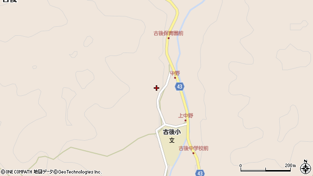 大分県玖珠郡玖珠町古後1684周辺の地図