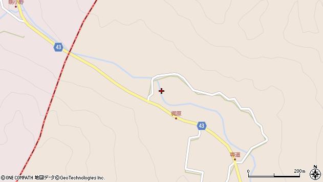 大分県玖珠郡玖珠町古後梶原周辺の地図
