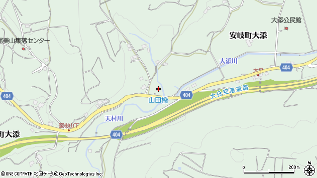 大分県国東市安岐町大添319周辺の地図