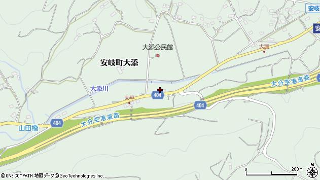 大分県国東市安岐町大添664周辺の地図