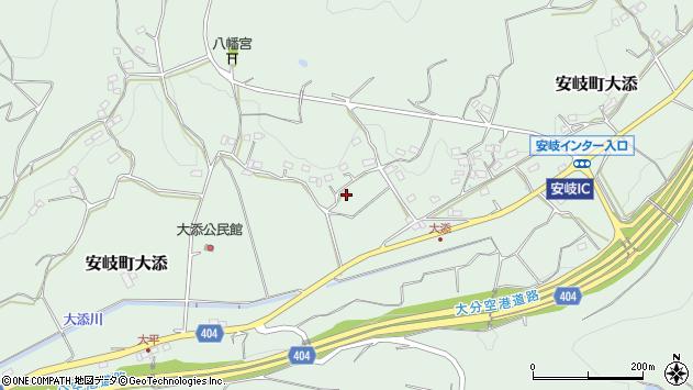 大分県国東市安岐町大添1234周辺の地図
