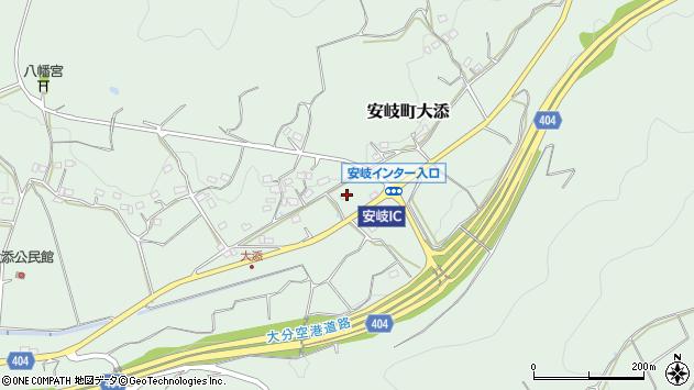 大分県国東市安岐町大添1615周辺の地図