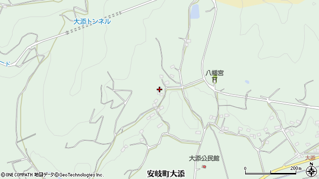 大分県国東市安岐町大添785周辺の地図