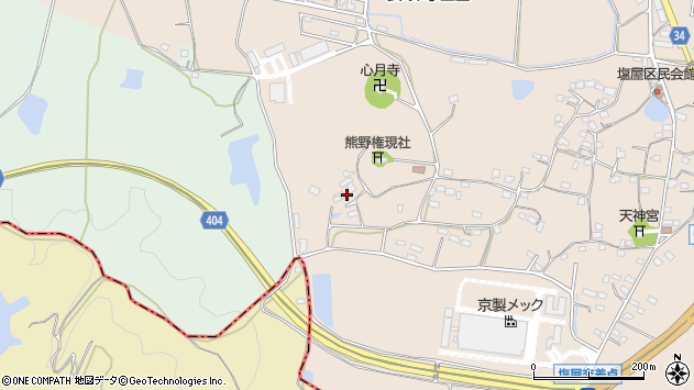 大分県国東市安岐町塩屋1018周辺の地図