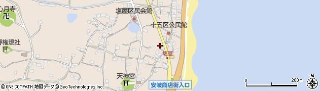大分県国東市安岐町塩屋1596周辺の地図