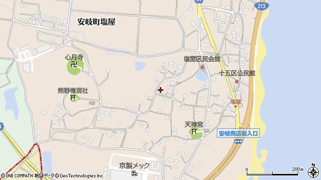大分県国東市安岐町塩屋767周辺の地図