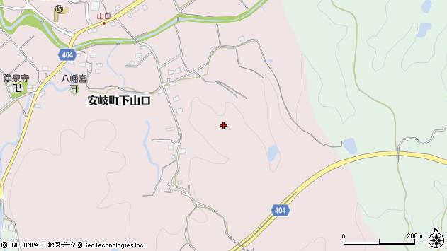 大分県国東市安岐町下山口京田周辺の地図
