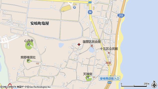 大分県国東市安岐町塩屋737周辺の地図