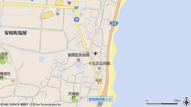 大分県国東市安岐町塩屋1634周辺の地図