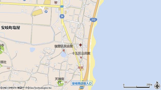 大分県国東市安岐町塩屋1630周辺の地図