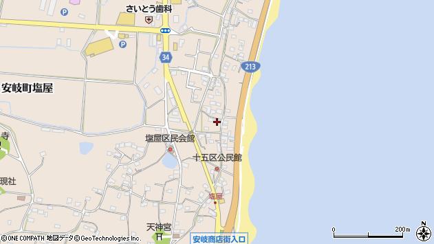 大分県国東市安岐町塩屋1642周辺の地図