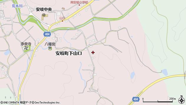 大分県国東市安岐町下山口1551周辺の地図