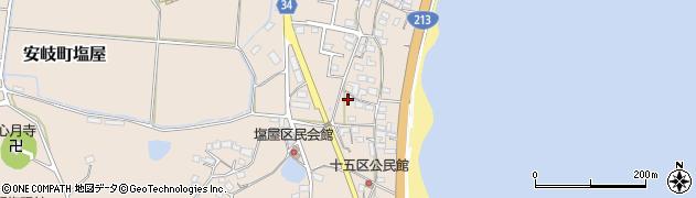 大分県国東市安岐町塩屋15区周辺の地図