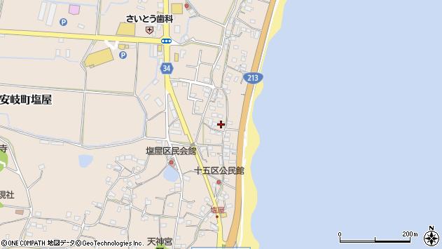 大分県国東市安岐町塩屋1648周辺の地図
